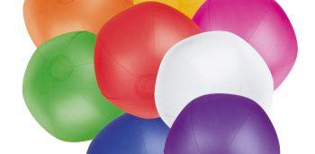 Strandballen bedrukken, blauw, rood, geel, wit, oranje, paars, roze, groen,blauw of wot