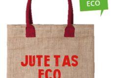 Bedrukte eco boodschappentassen